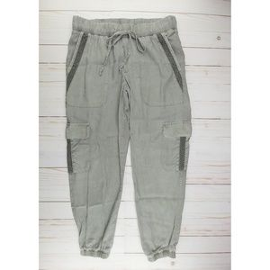 Anthro Cloth & Stone | Gray Trimmed Cargo Joggers